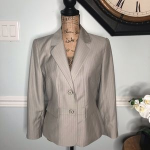 Calvin Klein Pinstriped Blazer Size 6
